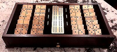 Franklin Mint House Of Faberge Imperial Dominoes In 22K Gold With Wood Display