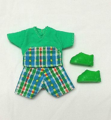Kelly Tommy Ryan Doll Clothes Green Plaid Tartan Print Outfit + Shoes Mattel New