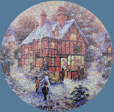 "Circular Wentworth Wooden Christmas Jigsaw Puzzle ""toy Shop"""