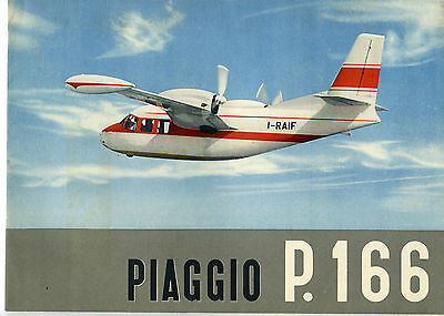 Brochure for Piaggio P.166 c.1960s