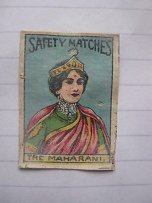 Old Indian Royalty Matchbox Label.design 9.