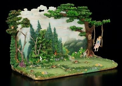 Faerie Glen Diorama with Elves Figurine - Collectible Base Landscape