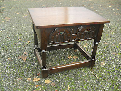 Lovely Solid Oak Vintage Slipper Box Small Chest Side Table