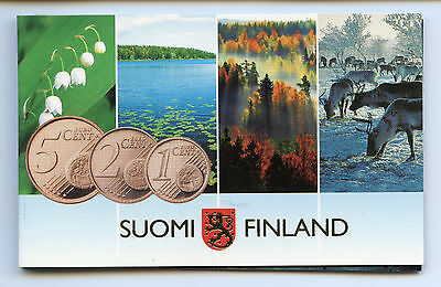Finland 2007 Official Euro Coin Cents Mint Set KMS UNC High Condition !!!
