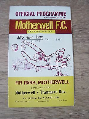 1968 Friendly : Motherwell V Tranmere Rovers