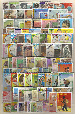 9410- Burkina Faso, Haute Volta, Upper Volta, collection of stamps