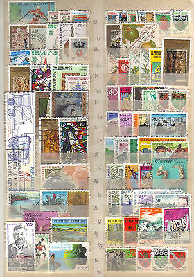 9412- Gabon, former French Colonies,  collection of stamps