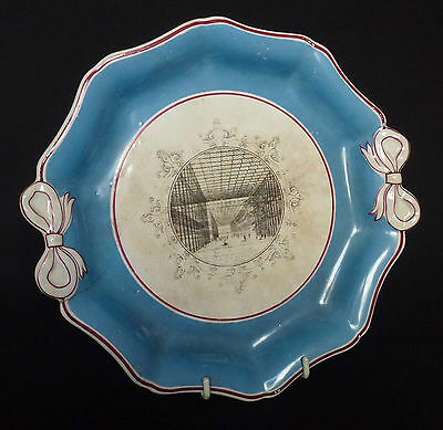 Victorian Prattware Dish – View of 1851 Great Exhibition at Crystal Palace