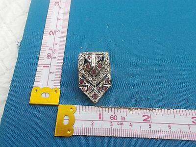 Vintage Jewellery Art Deco  Diamante/paste  Dress Clip  (8)