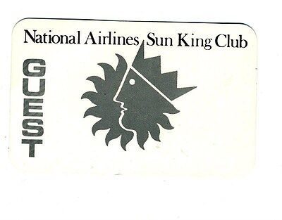 National Airlines SUN KING Club Guest Card 1970's