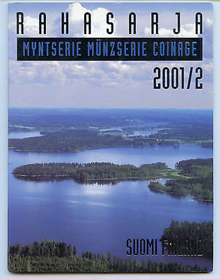 Finland 2001 / 2 Official Coin Mint Set KMS UNC High Condition !!!