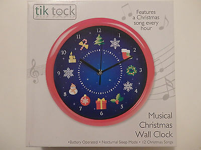 Musical Christmas Wall Clock (Battery Operated)