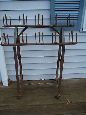 Antique Vintage Wrought Iron Candle Votive Stand Church Salvage