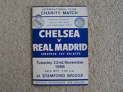 Chelsea v Real Madrid 1966, Rare Charity/Friendly Football Programme