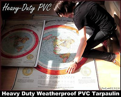 GIANT 5f/t FLAT EARTH GLEASONS NEW STANDARD MAP WORLD - (Extra Thick 400mic PVC)