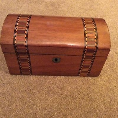 Lovely Inlaid Wooden Tea Caddy