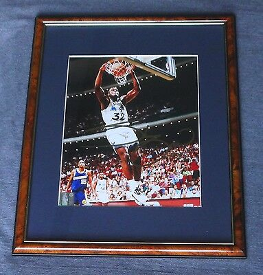 "Autographed Shaquille O'Neal 12""x15"" Matted, Framed Color Photo w/ COA"