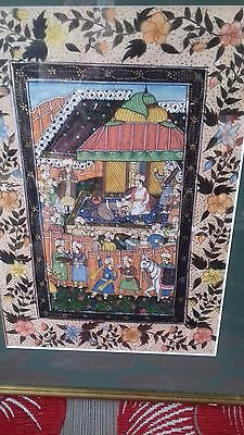 vintage Indian painting with gold colour accents