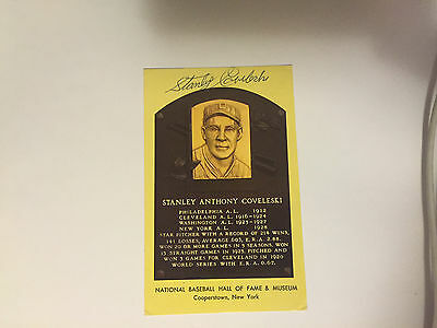 Stanley Coveleski  Autographed Plaque Hof Signature Guaranteed 100% Authentic