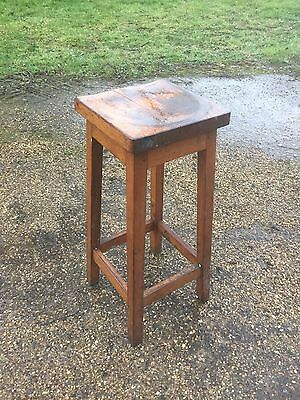 Stool /Vintage Wooden Stool/old Wooden Stool