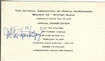 Michael Spinks Autographed 1987 Dance Ticket Legendary Boxer