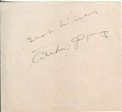 Arthur Godfrey Autographed Album Page Radio and TV Broadcaster D.83