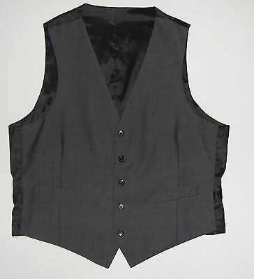 K588 Marks And Spencer Men'S Grey Wool Blend Waistcoat Size L