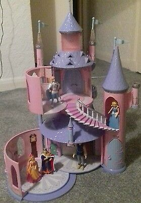 Disney's Sleeping Beauty Light Up  Castle With Elc Figures + Musical Carriage