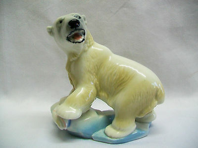 LARGE VINTAGE WADE BLOW UP POLAR BEAR 1960s  BLOW-UP