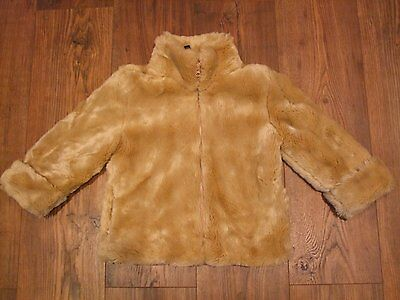 Kids age 4 girls faux fur beige light brown jacket GAP size xs Smart Winter