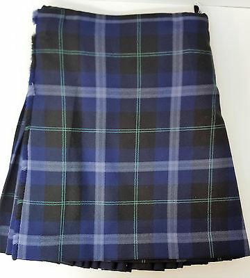 "Ex Hire 32"" waist 23"" drop Saphire Passion Of Scotland  8 Yard Wool Kilt A1 Cond"