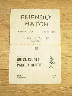 1967 Notts County V Partick Thistle