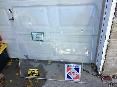 Bulletproof Glass 1 1/4 thick layered glass 41x41