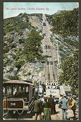 Mt Lowe Incline, Pacific Electric Railway.  Posted 1909.