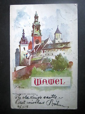 Poland: Wawel, The Royal Castle, Krakow. Posted 1906.