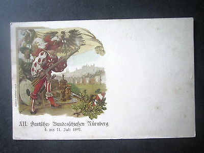 Germany. Deutches Bundesschiessen, Nurnberg. Shooting Competition. Posted 1897.