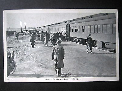 USA. WW11 Postcard. Troop Arrival, Fort Dix, New Jersey. Unposted.