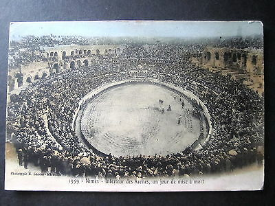France. Nimes. Bullfright Ring. Posted 1906.