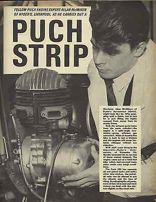 Rare 1960s PUCH 250 SGS SPLIT SINGLE ENGINE EXPERT OVERHAUL GUIDE TWN 200 Sears