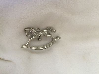 Silver Rocking Horse Christmas Ornament