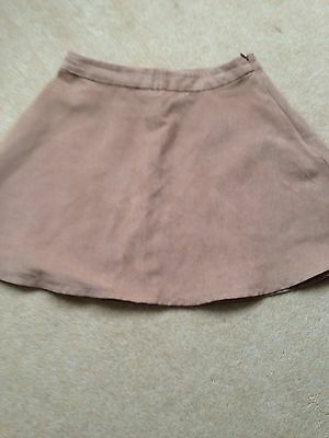 GIRLS NEW LOOK FAUX SUEDE SKIRT AGE 12-13 Yrs