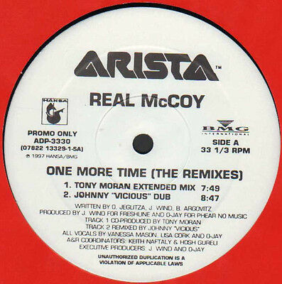 """12"""" Us**real Mccoy - One More Time (The Remixes) (Arista '97 / Promo)***16576"""
