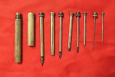 """Vintage Surgical Trocar with 4 """"Nesting"""" Cannulas and Points - Interesting Set"""