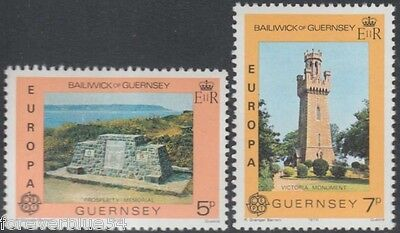 Guernsey 1978 SG 165-166  Sc 161-2 MNH Europa Monuments combined postage
