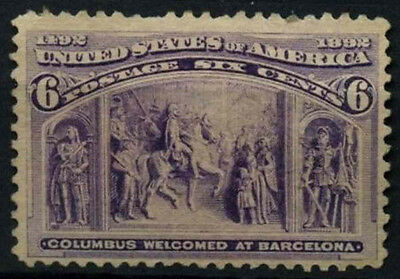 USA 1893 SG#240a 6c Columbian Exposition Unused No Gum #D39771