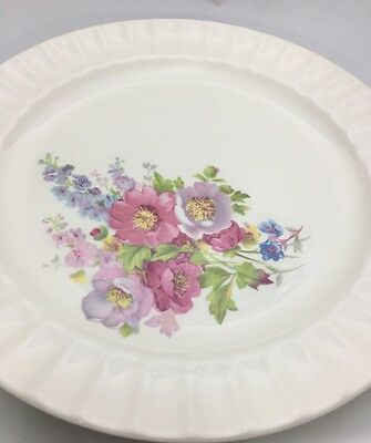 "3 Edwin M Knowles ""Spring Bouquet"" Dinner Plates"