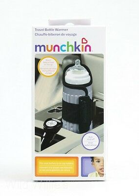 Munchkin Travel Baby Bottle Warmer New w/ Car Charger Adapter