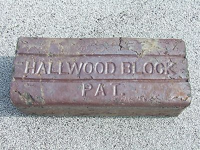 2 Antique Vintage Collectable Hallwood Block Street Paver Sidewalk Patio Brick