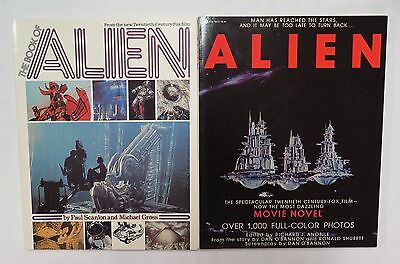 2 Large Format 1979 1St Edition Photo Books The Book Of Alien  Alien Movie Novel
