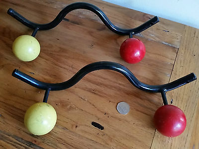 Pair of Vintage French Atomic Coat Rack / Hooks